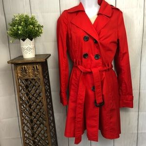 Jackets & Blazers - Red size 8 Trench Coat